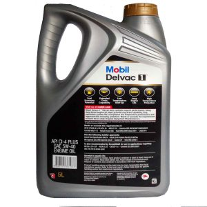 Mobil Delvac 1  5W-40 Fully Synthetic Diesel Engine Oil 5L Pack