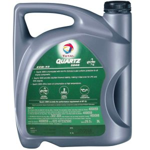 Total QUARTZ 3000 20W-50 Multi Grade Engine Oil 3L Pack