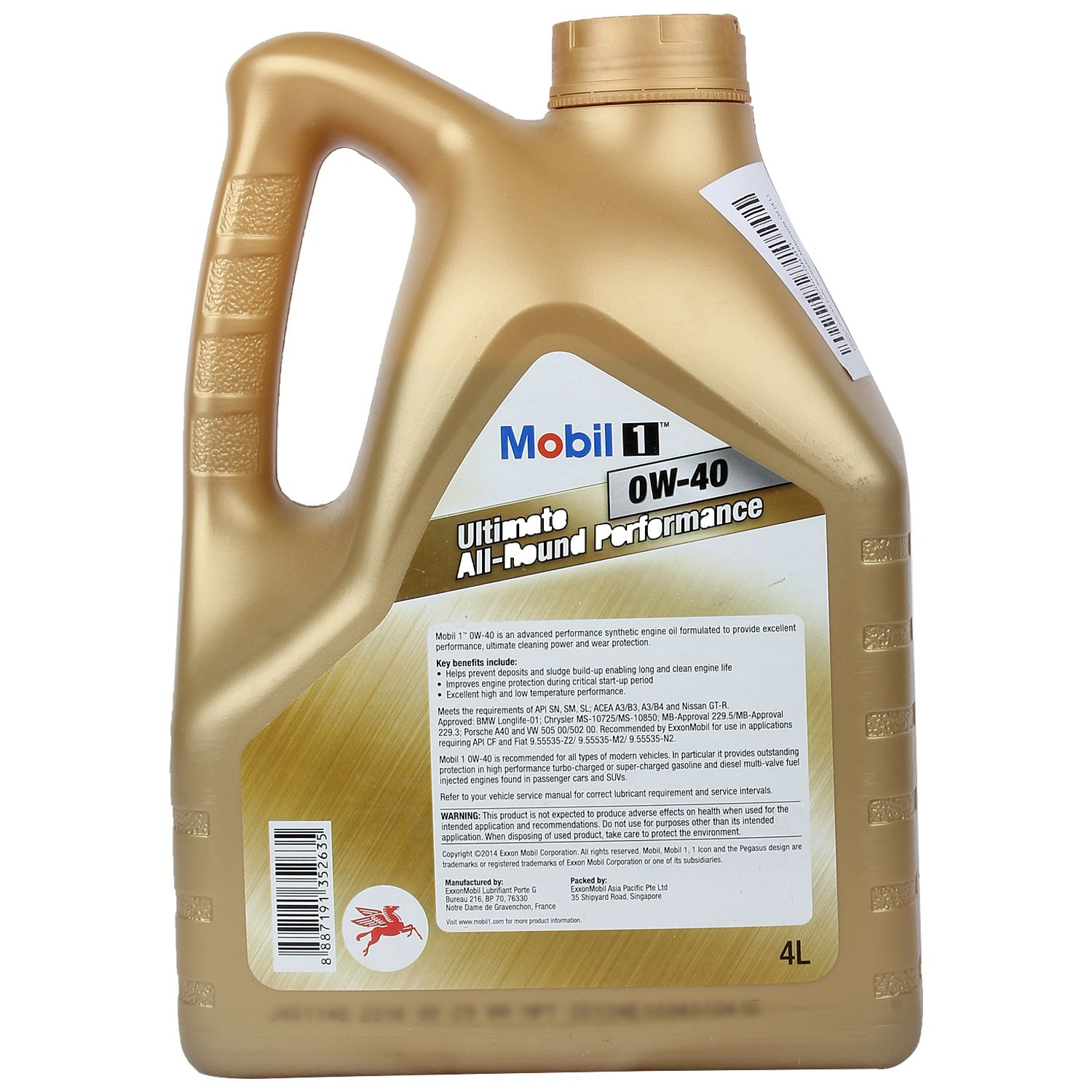 Strålande Mobil 1 0W-40 Advanced Fully Synthetic Motor Oil 4L Pack – LUBESHOPPE YC-76